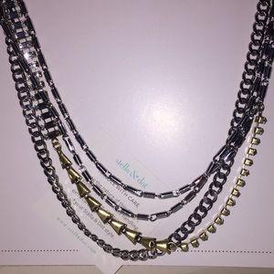 Stella & Dot multi-tone chained necklace